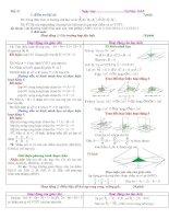 Gián án Bài 2: Phương trình mặt phẳng (tiết 31-32)