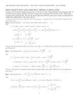 Bài giảng Một số kĩ năng giải phương trình lượng giác