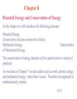 Tài liệu Chapter 8: Potential Energy and Conservation of Energy doc
