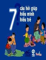 7 câu hỏi giúp hiểu mình hiểu trẻ