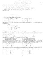 Tài liệu Đề thi Vật lý khối A - đề số 1 docx