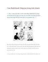 Tài liệu Case Radiohead: Sáng tạo trong kinh doanh docx