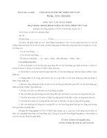Tài liệu Mẫu đơn xin cấp giấy phép hoạt động trong phạm vi bảo vệ công trình thuỷ lợi docx