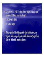 Tài liệu BÀI GIẢNG VI SINH SAU THU HOẠCH - Phần 3 pdf