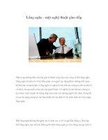 Tài liệu Lắng nghe - một nghệ thuật giao tiếp docx