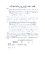 Tài liệu Tuyển tập đề thi xác suất thống kê_Đề số 04 pdf