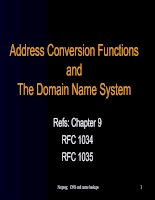 Tài liệu Address Conversion Functions and The Domain Name System docx