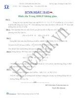 Tài liệu Các bài toán giải hình cầu trong hình học giải tích không gian (Bài tập và hướng dẫn giải) ppt