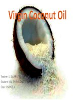Tài liệu Virgin Coconut Oil docx