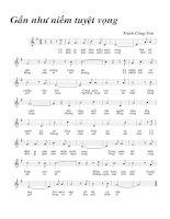 Tài liệu Bài hát gần như niềm tuyệt vọng - Trịnh Công Sơn (lời bài hát có nốt) ppt