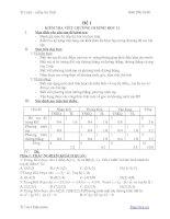 Tài liệu Đề kiểm tra toán: Phương pháp tọa độ trong không gian docx