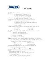 Tài liệu Đề trắc nghiệm hóa 7 (Ôn thi ĐH) ppt