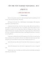 Tài liệu ÔN THI TỐT NGHIỆP NỘI KHOA – ICU (PHẦN 1) pdf