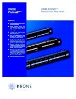 Tài liệu KRONE - Datasheet - Cat 5e - Patch Panel - Keystone HighWay docx