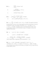 Tài liệu Physics exercises_solution: Chapter 09 pptx