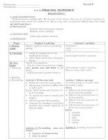 Bài giảng Giáo án Tiếng Anh 11(NC)