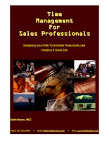 Tài liệu Keith Rosen - Time Management for Sales Professionals pptx