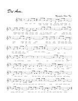 Tài liệu Bài hát dư âm - Nguyễn Văn Tý (lời bài hát có nốt) pdf