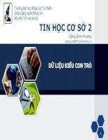 Tài liệu TIN HỌC CƠ SỞ 2: DỮ LIỆU KIỂU CON TRỎ doc