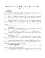 Bài soạn Sáng kiến inh nghiệm về công tác chủ nhiệm