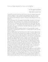 Tài liệu Vai trò của văn học dân gian đối với văn học viết thời Đại Việt GS. TS. docx