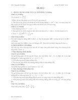 Bài giảng 17 đề toán tham khảo tốt nghiệp