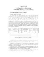 CHƯƠNG XII THIẾT KẾ CHIẾN LƯỢC TRUYỀN THÔNG VÀ CỔ ĐỘNG