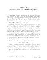 Tài liệu Giáo trình trí tuệ nhân tạo- chương 2-CÁC CHIẾN LƯỢC TÌM KIẾM KINH NGHIỆM pptx