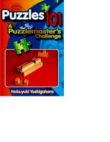 Puzzles 101 A Puzzle masters Challenge