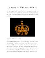 Tài liệu 14 nguyên tắc thành công – Phần 12 ppt
