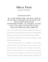 Tài liệu LUYỆN ĐỌC TIẾNG ANH QUA TÁC PHẨM VĂN HỌC-Oliver Twist -Charles Dickens -CHAPTER 36 doc