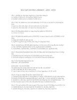 Tài liệu Bài tập ANĐEHIT - AXIT - ESTE ppt