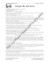 Tài liệu Chuyên đề axit nitric pptx