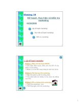 Tài liệu Chương 10: Kế hoạch, thực hiện và kiểm tra marketing docx