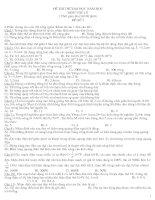 Gián án Đề thi thử Đại học Môn Vật lý và đáp án số 7-8