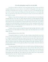 Tài liệu Các màn phù phép trong báo cáo tài chính pptx