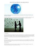 Tài liệu Bí quyết tạo niềm tin cho khách hàng ppt
