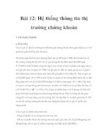 Tài liệu Kiến thức cơ bản về chứng khoán - Bài 11 ppt