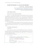 Tài liệu Sơ nét về Visual C++ 6.0 và thư viện lập trình MFC ppt