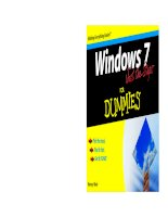 Tài liệu Windows 7 Just the Steps for Dummles P1 doc