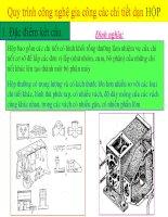 Quy trình gia công các chi tiết dạng hộp