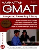 Manhattan GMAT integrated reasoning and essay