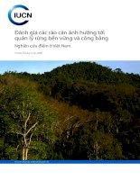 Tài liệu Đánh giá các rào cản ảnh hưởng tới quản lý rừng bền vững và công bằng ppt