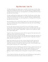 Bài giảng Dao Duc kinh  Lao Tu