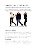 """Tài liệu Những thói quen """"hủy hoại"""" sức khỏe pdf"""