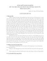 Bài giảng SÁNG KIẾN DẠY TOÁN CHO HỌC SINH YẾU LỚP 1