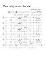 Tài liệu Bài hát đêm thấy ta là thác đổ - Trịnh Công Sơn (lời bài hát có nốt) pptx