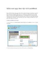Tài liệu Kiểm soát ngày làm việc với LeechBlock pdf