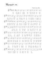Tài liệu Bài hát nguyệt ca - Trịnh Công Sơn (lời bài hát có nốt) docx