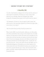 Tài liệu LUYỆN ĐỌC TIẾNG ANH QUA TÁC PHẨM VĂN HỌC-SHORT STORY BY O'HENRY -A Sacrifice Hit pdf